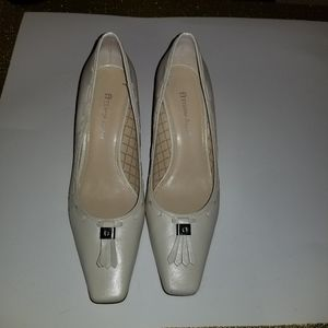 ETIENNE AIGNER pointed square toe shoes cream 8M